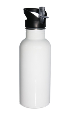 600 ml - Stainless Steel Sports Bottle White - Orca
