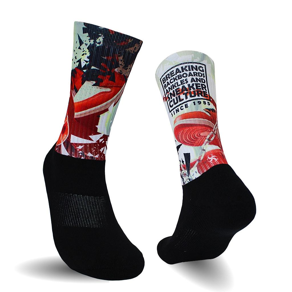 Black Foot Socks Large One Pair