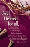 "Lenten ""And He Died For All"" Bulletin - Letter Size"