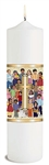 "4 Pack - 12"" Children of the World Pillar Christ Candles"