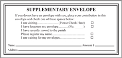 Church Interim Envelope