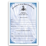 First Communion Certificate 2 Color