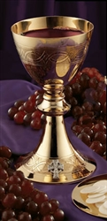 16OZ GP ETCHED CHALICE W/PATEN
