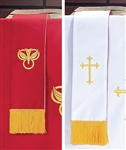 Bookmark W/Cross: Red & White
