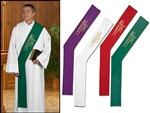 Alpha/Omega Wheat Deacon Stole