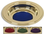 Brass Tone Offering Plates - Available in 4 Colors - Free Shipping