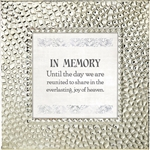 In Memory Touch of Vintage Silver frame Tabletop Christian Verses - 7 x 7