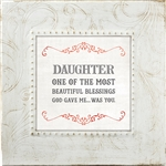 Daughter Touch of Vintage frame Tabletop Christian Verses - 7 x 7