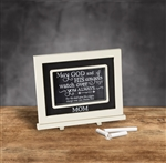 Mom Chalkboard Messages frame Tabletop Christian Verses - 9 x 7