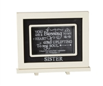 Sister Chalkboard Messages frame Tabletop Christian Verses - 9 x 7