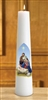 "4 Pack - 14"" Nativity Conical Candle"