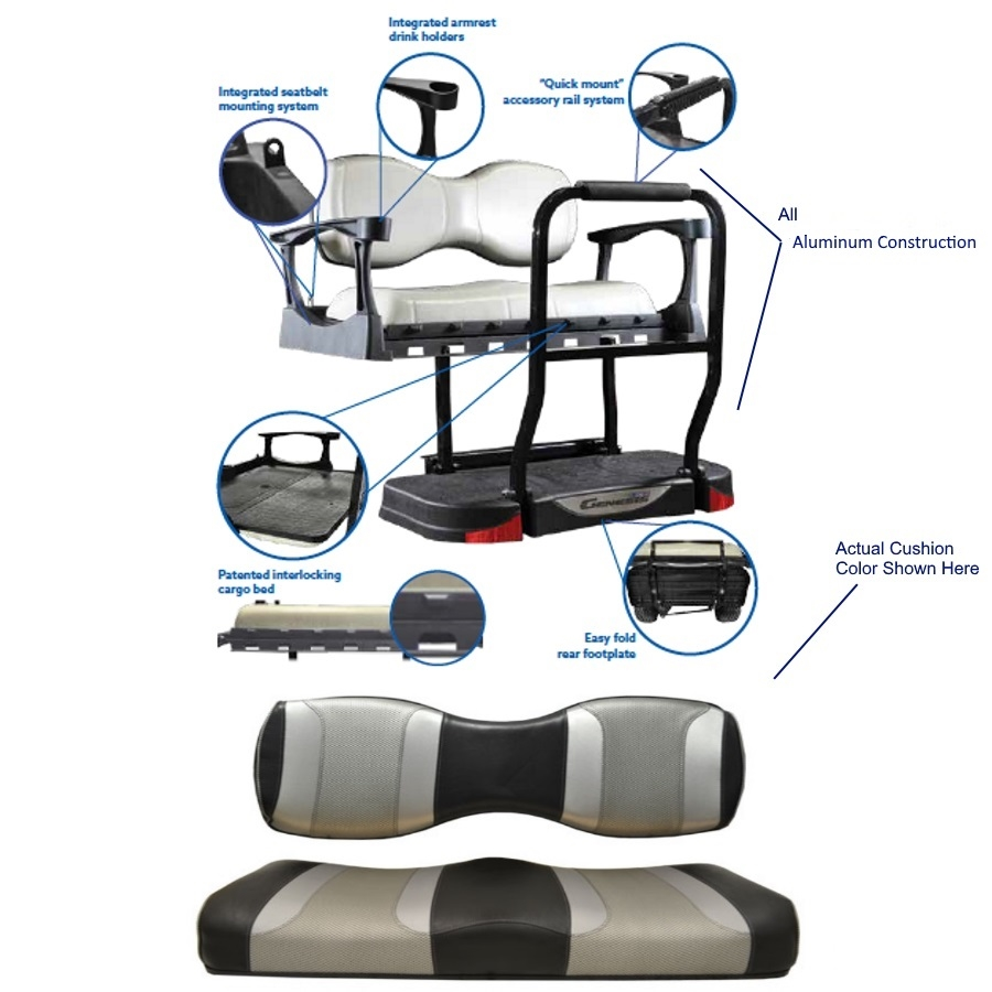 Madjax Club Car Precedent Genesis 300 Tsunami Rear Seat Kit