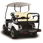 Madjax Genesis 300 Aluminum Rear Seat Kit - Deluxe White for Club Car DS