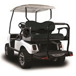 Madjax Genesis 300 Aluminum Rear Seat Kit - Deluxe Black for Club Car DS