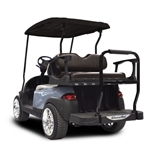 Madjax Genesis 300 Aluminum Rear Seat Kit - Std Black for Club Car DS