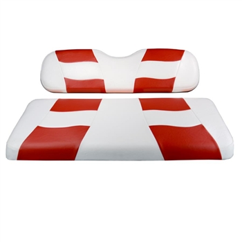 Club Car DS Madjax Riptide Seat Covers - White with Red