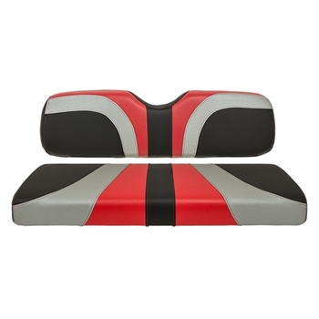 Club Car DS Madjax Blade Seat Covers - Black/Silver/Red