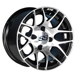 GTW Pursuit 14X7 Offset Mach/Black Aluminum Wheel