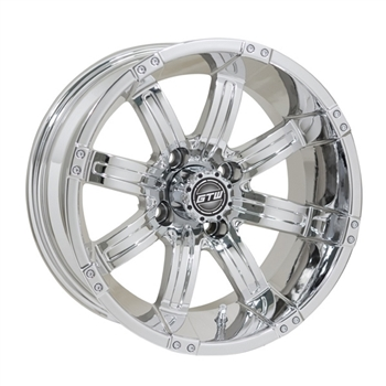 14X7 GTW Tempest Chrome Offset Aluminum Wheel