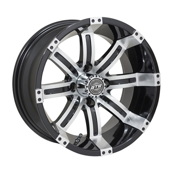14X7 GTW Tempest Black / Machined Offset Aluminum Wheel