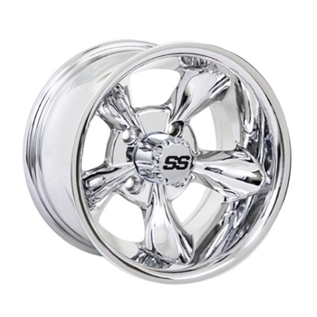 "10"" Chrome Golf Cart Wheel by GTW"