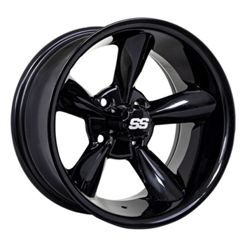 14X7 GTW Godfather Offset Black Aluminum Wheel