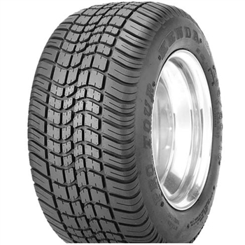 Street tire for lifted golf cart