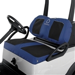 Neoprene Paneled Golf Cart Seat Cover - Blue/Blk