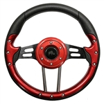 "13"" Aviator 4 Red / Aluminum Steering Wheel"