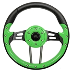 "13"" Aviator 4 Lime Green / Black Steering Wheel"