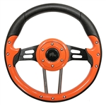 "13"" Aviator 4 Orange / Black Steering Wheel"