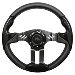 "13"" Aviator 5 Black / Black Steering Wheel"