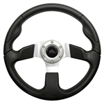 "13"" Formula GT Black/Aluminum Steering Wheel"