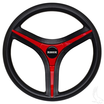 Custom golf cart steering wheel for Yamaha golf carts with Red Accents