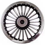 "8"" Turbine (Black/Silver) Wheel Cover"