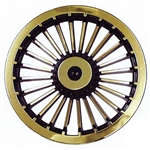 "8"" Turbine (Black/Gold) Wheel Cover"