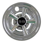 "8"" SS Muscle Car Chrome Wheel Cover"