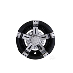"8"" Vegas Chrome/Black Wheel Cover"