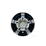 "8"" Vegas Silver/Black Wheel Cover"