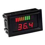 Horizontal 36V Digital Charge Meter w/ Voltage Display