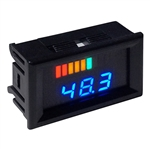 Horizontal 48V Digital Charge Meter w/ Voltage Display