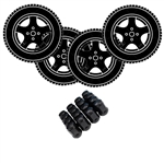 "LSI Golf Cart 15"" Wheel & Tire Package Deal with Custom Rims"