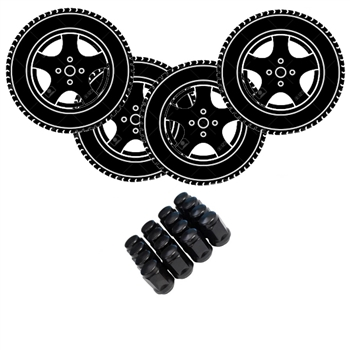 "Golf Cart 15"" Wheel & Tire Package Deal - Custom Rims"