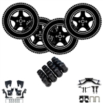 "Lift Kit, 14"" Custom Rims, and Mounted Tires for Your Yamaha Golf Cart"