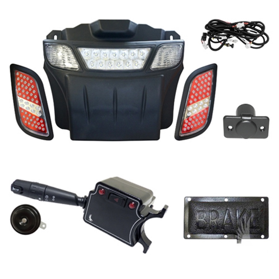 RHOX Deluxe Street LED Light Bar Kit for E-Z-GO RXV (08-15)  sc 1 st  Jasonu0027s Golf Carts u0026 Accessories & E-Z-GO RXV LED Light Bar Kit | LED Golf Cart Light Bar Kit | Red ... azcodes.com