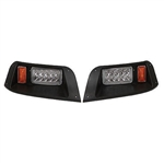RHOX LED Adjustable Headlights with Bezels for EZ GO TXT (96-13)