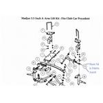 "MJFX 3.5"" OR 6"" A-Arm Lift Kit Replacement Heim Joint"