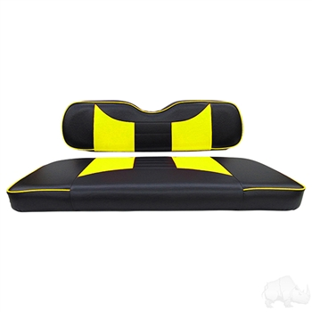 Black / Yellow 2 Tone Seat Covers for E-Z-GO TXT / RXV