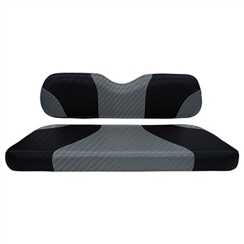 Black/Gray Carbon Fiber, Seat Covers for EZ GO TXT (14+)