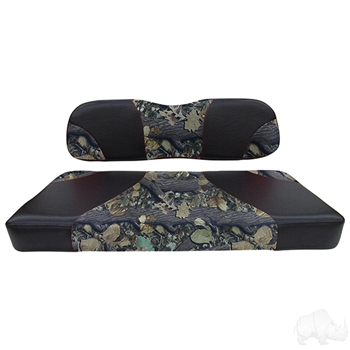 Black / Camo 2 Tone Seat Cushion Set for Club Car DS